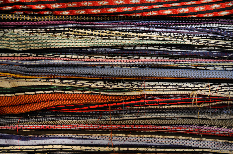 The squares . Maurizio Marinella ties, Naples Italy © Massimo Vicinanza